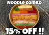 **15% Off** Mini Sea Urchin & Snow Crab Chirashi with Any Noodle